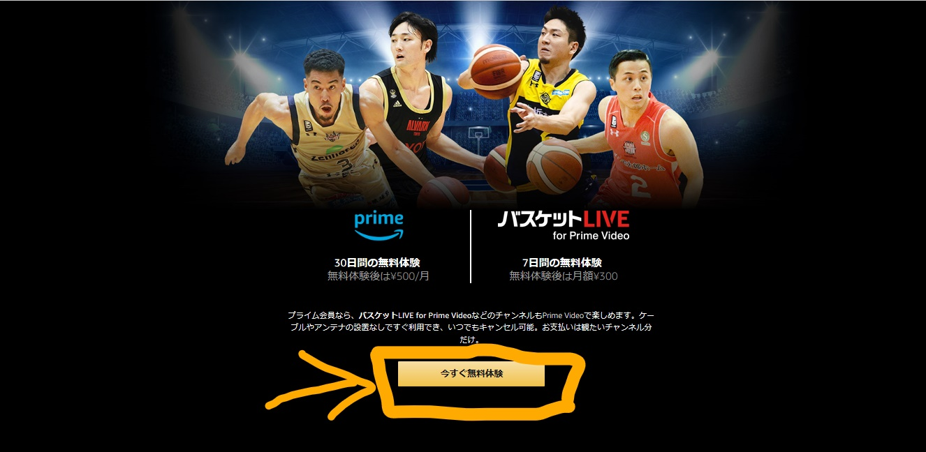 バスケットLIVE for Prime Video