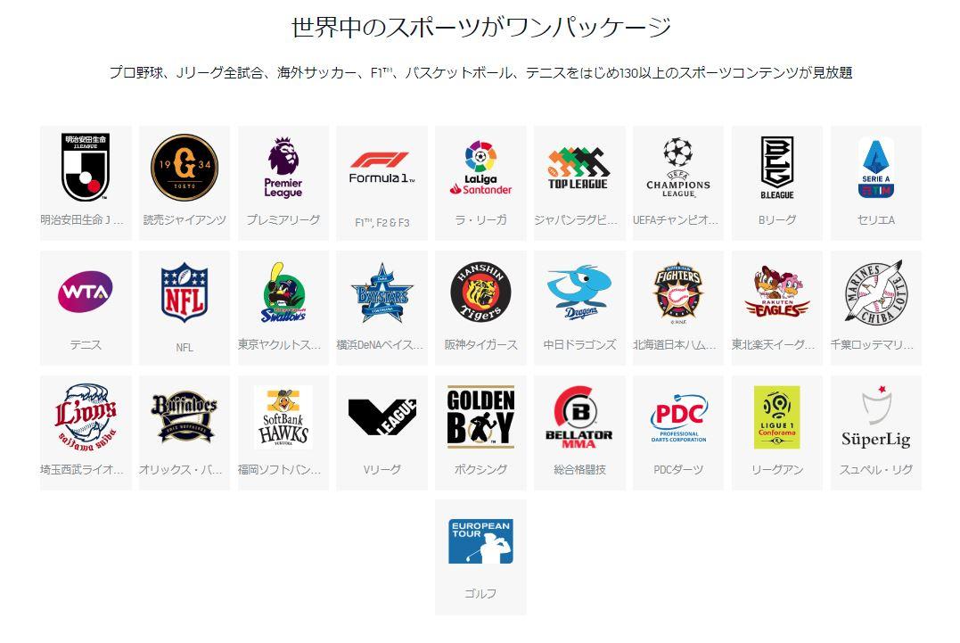DAZNは世界中のスポーツがワンパッケージで観れる